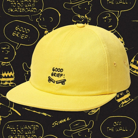 Vans Men s VANS X Peanuts Jockey Hat Charlie Brown e109f26f0b2c